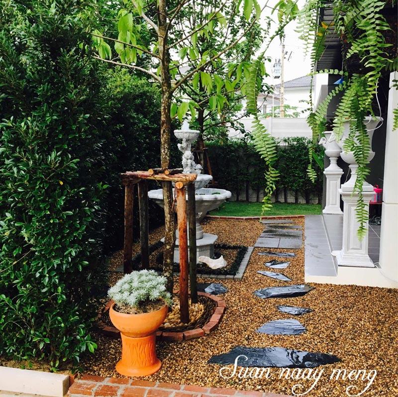 4. จัดสวนข้างบ้านสไตล์อังกฤษ