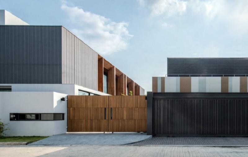 luxury house wall